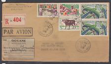 SUPERBE LETTRE MALI OISEAU ZEBU NEW YORK RECOMMANDE PAR AVION DOUANE 1966