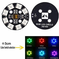 7 Color RGB LED Round Circle  Board 5050 X8/ 16V for FPV RC Multicopter F17710