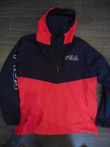 Kway marque Fila collection récente marine et rouge TXL