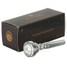 Cecilio Trumpet Mouthpiece, 7C, Silver Plated