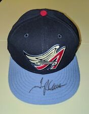 TROY GLAUS ANAHEIM ANGELS Autographed New Era Fitted Hat Authentic COA Disney