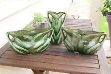 Anciennes jardinière et vase type barbotine