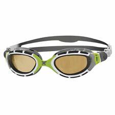 Zoggs Predator Flex Polarized Ultra 2.0 Swimming Goggles - Green White Silver