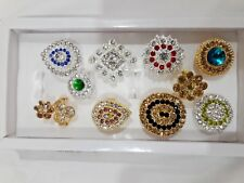 Indian Women Free Size 10 Rings Gold Plated Fashion Jewelry Wedding Whole Sale