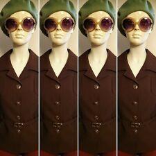 Vintage/Retro Czarina Brown/Belted Jacket. Size 16