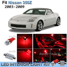 For 2003-2009 Nissan 350Z Brilliant Red Interior LED Lights Kit 7 Pieces