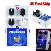 POCKECHO Delay & Looper Guitar Effect Pedal 8 Delay Effects Max.300s Loop