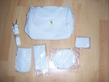 Sac à main + accessoires assortis blanc cassé NEUFS