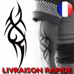 Tatouage Imperméables Tribal Manches Jambe Bras Temporaire Faux Corps Homme Art