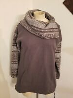 Anthropologie Saturday Sunday Cowlneck Tunic Sweater  Sz XS GRay Womens