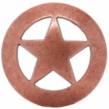 """Smooth Star Screw Back Concho Copper Plated 2"""" 7532-10 Stecksstore"""