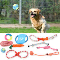 Dog Rope Toys Kit Tough Strong Chew Knot Ball Pet Puppy Teeth Health Toys