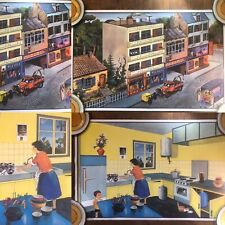 More details for oge hachette french double sided poster garage + kitchen