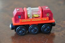 THOMAS Wooden RAILWAY Engine Carriage SODOR MINING GOLD SIFTING CAR - Like NEW