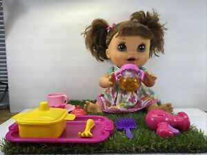 Hasbro Baby Alive Real Surprises Hispanic Brunette English Spanish 2012 Works !!