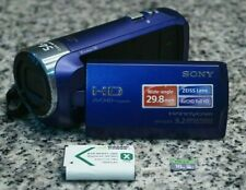 Sony HDR-CX240 Full HD 1080p 9.2MP Handycam Blue Camcorder W/ 16GB SD Tested F/S