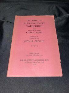 Barberini Ffoulke Tapestries 1948 Parke-Bernet Auction Catalog ~ John R. McLean