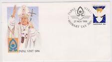 (ICF176) 1986 AU Cover 36c Papal visit Special cancel (G)