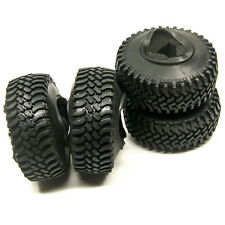 4pcs 100mm OD Rubber Tire with Sponge Insert Tyre Set for 1/10 RC Crawler Cars