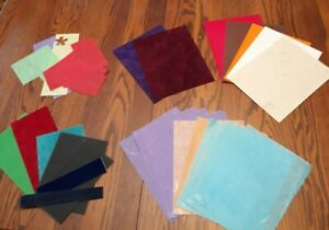16 Textured 8 x11 Papers PLUS  Scraps Scrapbooking/crafts