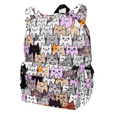 Backpack For Girls Kitten Kitty Cat School Supplies Bags Bookbags Pockets NEW