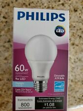 Philips Smart Lighting A19 LED Bulb, Frosted, 9 Watts Dimmable Energy Star