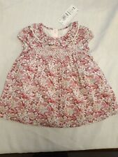 Marks and spencer Baby girls Dress.  Pink floral design. Size 3-6 Months. New
