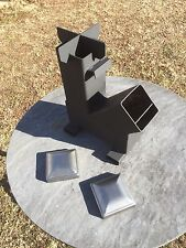 Gravity Feed Rocket Stove w/ caps by Outback Fabrications