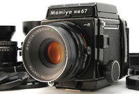 [MINT] Mamiya RB67 Pro S w/ 65mm 127mm 180mm 3Lens Hood Strap From JAPAN #875