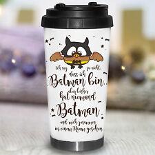 KTB107 wandtattoo-loft CÓNICO Taza Térmica Batman Eule OWL murciélago