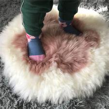 Real Sheep Fur Cushion Long Wool Chair Sofa Car Seat Mat Pad Floor Carpet -Pink