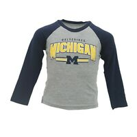 Michigan Wolverines Official NCAA Apparel Youth Kids Size Long Sleeve Shirt New