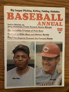 1969 Baseball Annual-San Francisco Giants Willie Mays Cincinnati Reds Pete Rose