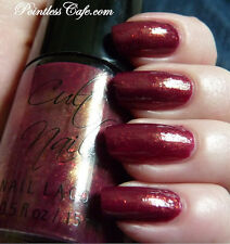 NEW! CULT NAILS Nail Polish Lacquer in ICONIC ~Berry Red Gold Shimmer Ref Flakes