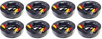 8 Pcs 50 Feet Pre-Made Black Power & Video Cable for CCTV Security Camera