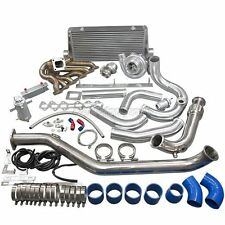 CXRacing Turbo Intercooler Kit For 1993-2002 Toyota Supra MK4 2JZ-GTE Blue Hose