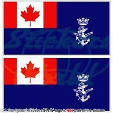 """CANADA Canadese Bandiera Marina Militare Ausiliare Adesivi 75mm (3"""") Stickers x2"""