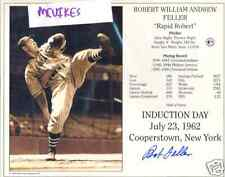Bob Feller Cleveland Indians Autographed Signed 8x10 Photo COA DECEASED #7