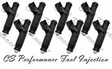 NEW 4 HOLE NOZZLE UPGRADE GENUINE SIEMENS FUEL INJECTOR SET (8) 00-03 Jeep 5.2
