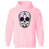 e7c35e1bd46 Womens Mexican Sugar Skull Tattoo Style Pullover Hoodie NEW UK 12-20