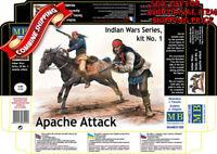 Master Box 35188 Apache Attack Indians w/Rifles (2) & Horse (1) plastic kit 1/35