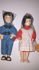 """Vintage Effanbee Asian Boy & Girl Set - LITTLE TIGER-ORANGE BLOSSOM 13"""""""