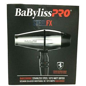 Babyliss Pro Hair Dryer Steel FX 1875 W, Fast Dry BABSS800C
