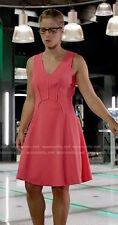 Rebecca Taylor V-Neck Sleeveless Flare Orange Dress Sz 2 New