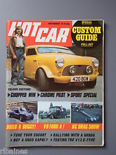 R&L Mag Hot Car Nov 1972: Skoda S110 Rally/MK1 Capri/Roof Chop Mini/E-Type V12