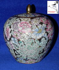 Cinese Ovoid JAR Tea Caddy GINGER ORIENTAL PORCELLANA DAOGUANG QING marchio 19 quater