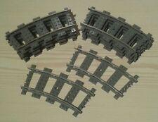 Lego City Eisenbahn Schienen 20 Kurven 9V 4520 bricktrain