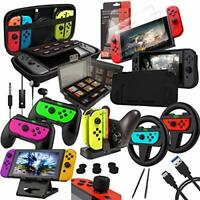 Switch Accessories Bundle - Orzly Geek Pack for Nintendo Switch: Case & Screen