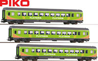 "Piko H0 58678-S Personenwagen ""Flixtrain"" Neuheit 2019 (3 Stück) - NEU + OVP"