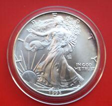 """Amerika: 1 Uz.-Oz """"Silver Eagle""""  1993 ST-BU,  #F 2037"""